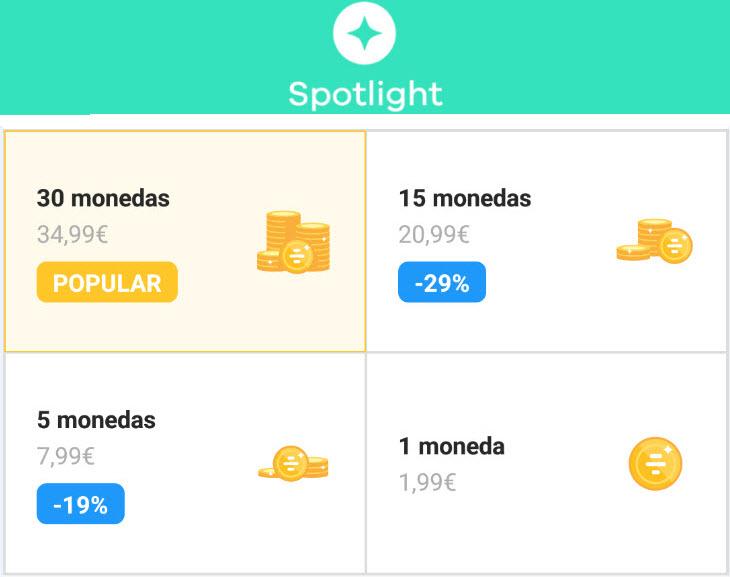 precio spotlight bumble app de citas