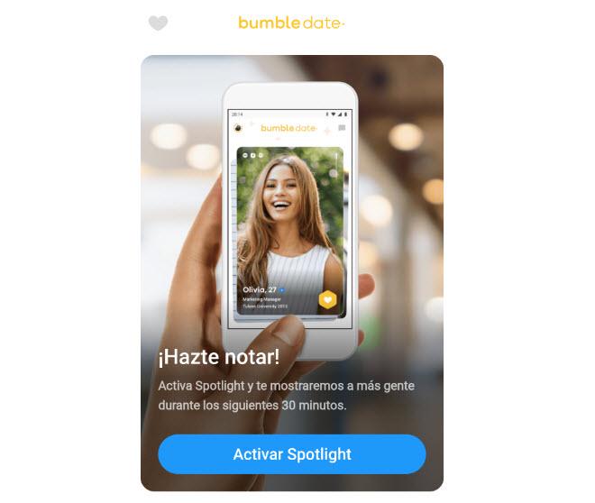 spotlight de app bumble